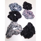 Scrunchies - Black and Printed