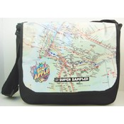 15' Messenger Bag - Black Big Apple Wholesale Bulk