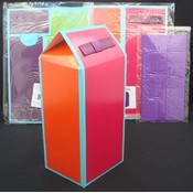 Multicolor Folded Gift Box with Gift Wrap