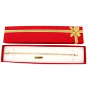 Crystal Tennis Bracelet in Red Gift Box