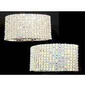 10 Row Crystal Stretch Bracelet / Crystal AB Wholesale Bulk