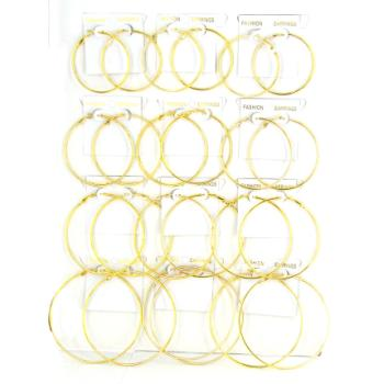 gold hoops with name. Name, 12 Pairs of Gold Hoop