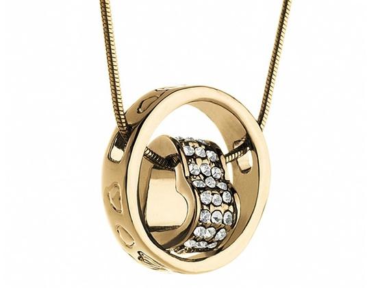 SWAROVSKI 14KT Gold Plated Crystallized Heart Necklace (1784534)