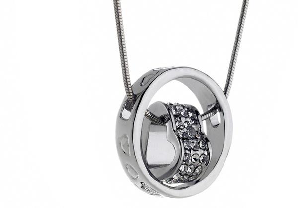 SWAROVSKI Crystallized Heart Necklace / Silver [1784535]