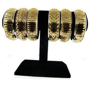 Gold Bangle Bracelets on Stand Wholesale Bulk