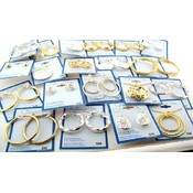 Forever New Silver Filled Jewelry Lot: 50 pcs Wholesale Bulk