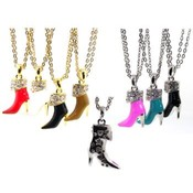 High Heel Shoe Necklaces Gold