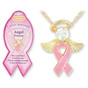 Breast Cancer Angel Pendant
