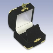 Small Gold Corner Earring Box