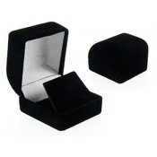 Black Flocked Velvet Earring Box Wholesale Bulk