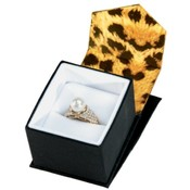 Leopard Print Ring Box