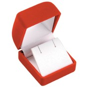 Red Flocked Velvet Earring Box Wholesale Bulk