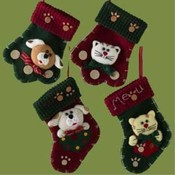 7' Pet Mitten and Stocking Ornaments Wholesale Bulk
