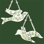 5' Green Ceramic Dove Ornaments Wholesale Bulk