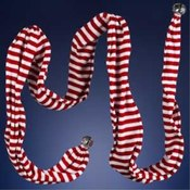 9' Red & White Stripe Scarf Garland