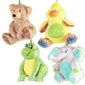 3' Glitter Toy Animal Ornament Wholesale Bulk