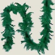5' Green Curly Feather Garland