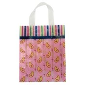 Paisley Stripe Poly Bags, Medium Wholesale Bulk