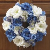 KIGI 16'Diameter Silken Rose Wreath Wholesale Bulk