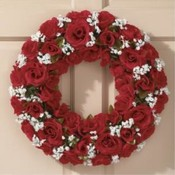 KIGI 17' Diameter Red Rose Wreath Wholesale Bulk