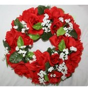 KIGI 10' Diameter Red Rose Wreath with Berry Wholesale Bulk