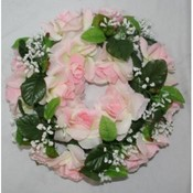 KIGI 10' Diameter Pink Rose Wreath Wholesale Bulk