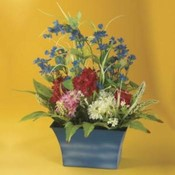 KIGI 21.7'H Spring Bouquet in Blue Tin Wholesale Bulk