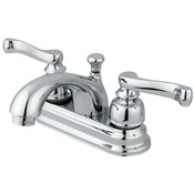 "Two Handle 4"" Centerset Lavatory Faucet with Retail Pop-up"