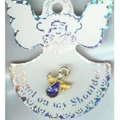 Birthstone Angel Pins
