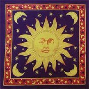 Sun Stars and Moon Bandanas - Dozen Packed 22x22