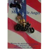 Motorcycle Angel with Flag