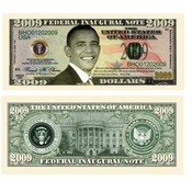 Barack Obama 2009 Novelty Bill