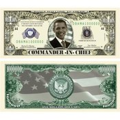 Barack Obama Million Dollar Bills