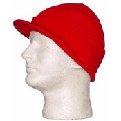 Red Ski Hat Visor - Dozen Packed Wholesale Bulk