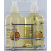 2pc Caddy - Orange Hand Cleanser & Lotion