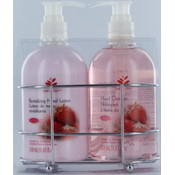2pc Caddy - Strawberry Hand Cleanser &amp;amp; Lotion