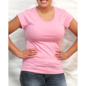 Ladies Pink Short Sleeve Top