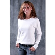 Ladies White Long Sleeve Top