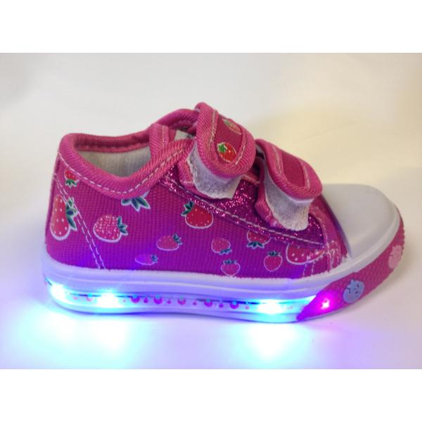 Wholesale Infant Girls Light Up Sneakers Pink SKU