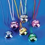 Disco Ball Necklace - Asst Only Wholesale Bulk