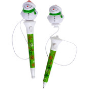 Pop-Top Snowman Pen Wholesale Bulk