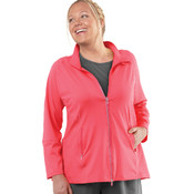 Live Life Large™ Women's Plus Size Technical Jacket Coral 4X