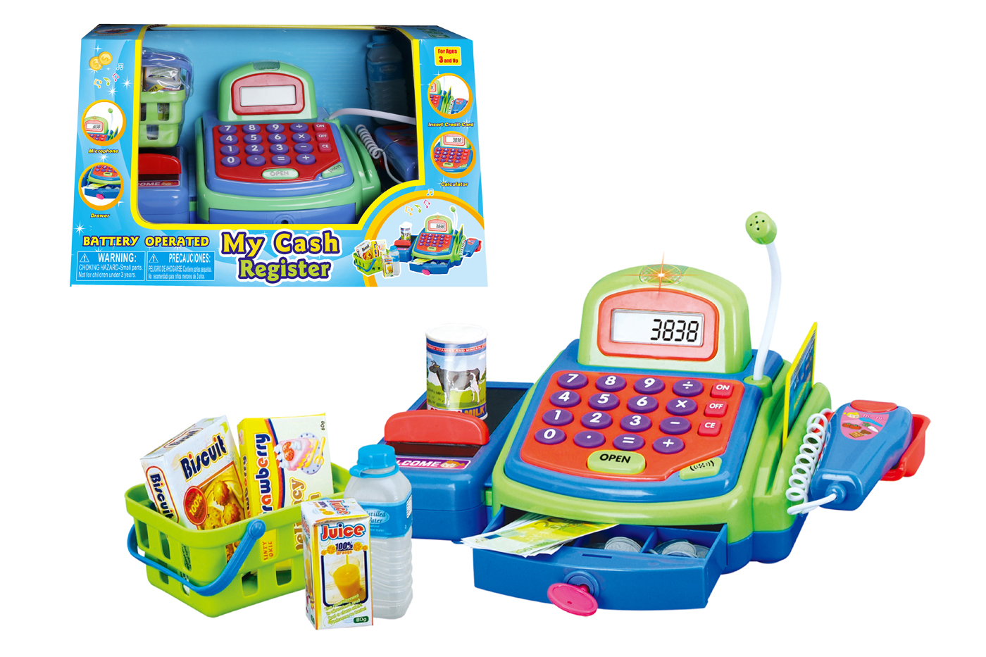 Educational Battery Operated Cash Register Play Set (Green) [1940353]