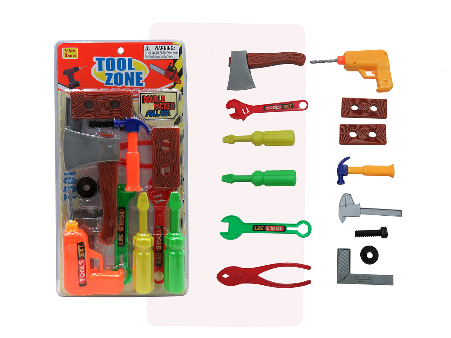 14 Piece Tool Zone Double Packed Playset [2331996]