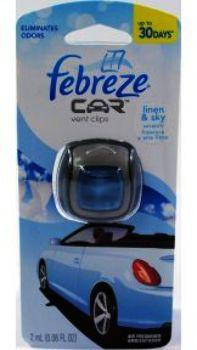 wholesale febreze car vent clip linen sky sku 1042571. Black Bedroom Furniture Sets. Home Design Ideas
