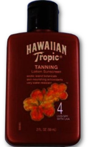 Hawaiian Tropic Tanning Lotion SUNSCREEN SPF4 2 oz [1037866]