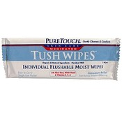 Pure Touch Tush Wipes Medicated
