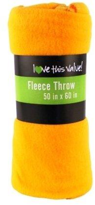 ''Fleece BLANKET - Yellow 50'''' x 60'''' [1218325]''