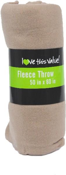 ''Tan Fleece BLANKETs - 50'''' x 60'''' [1257486]''