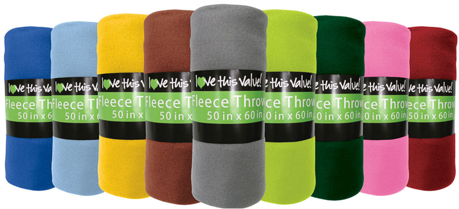 Imperial Home Fleece BLANKETs - I Luv Sleeve 240GSM (1941216)
